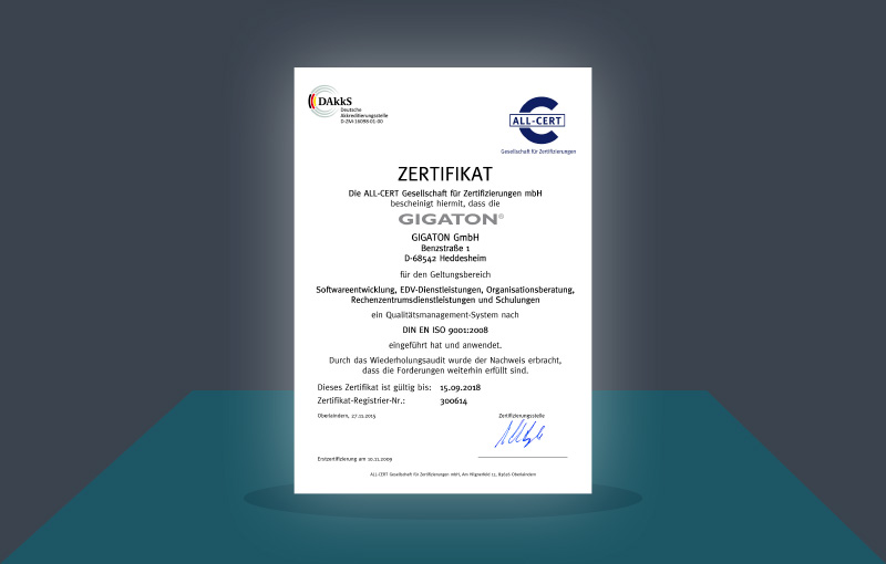 Gigaton - certifications