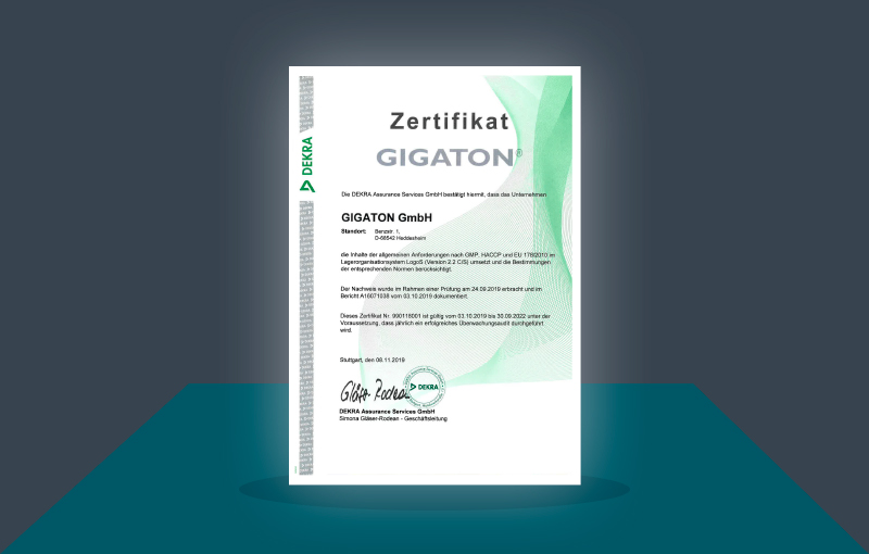 GMP, HACCP and EU 187/2010 certification