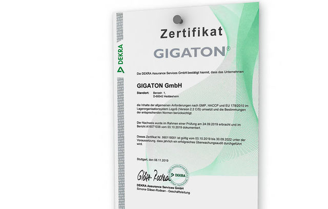 Gigaton: DIN ISO 9001:2015 certified